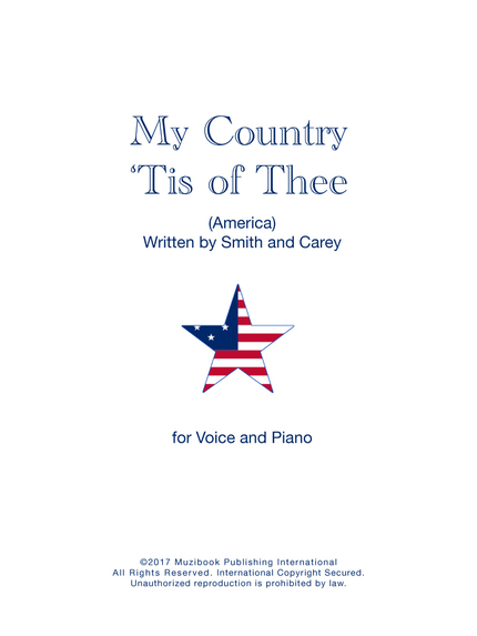 My Country 'Tis of Thee - Samuel Francis Smith - M. P. I.