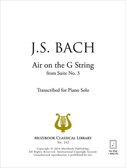 Air on the G String - Piano - Johann Sebastian Bach (EAN13
