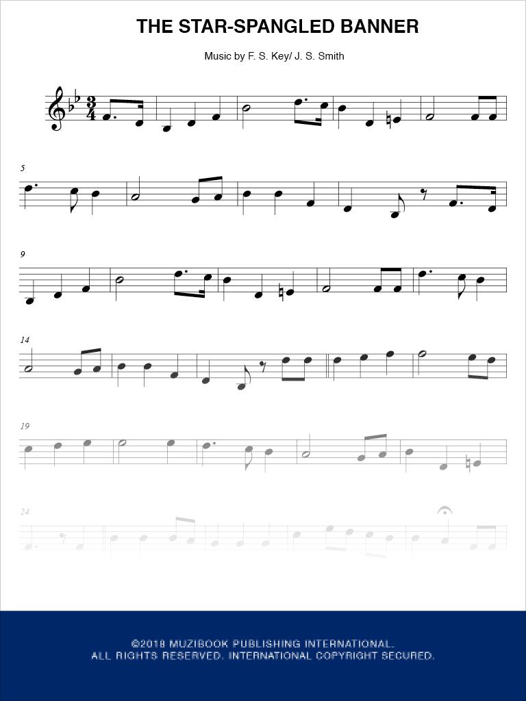 The Star-Spangled Banner - Trumpet - Francis Scott Key (EAN13 :  3700681112869), Sheet Music Place