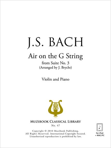 Air on the G String - Johann Sebastian Bach - Muzibook Publishing