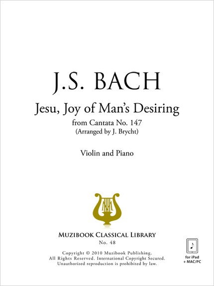 Jesu Joy of Man's Desiring - Johann Sebastian Bach - Muzibook Publishing