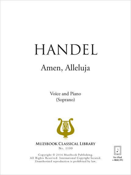 Amen, Alleluja - Georg Friedrich Handel - Muzibook Publishing