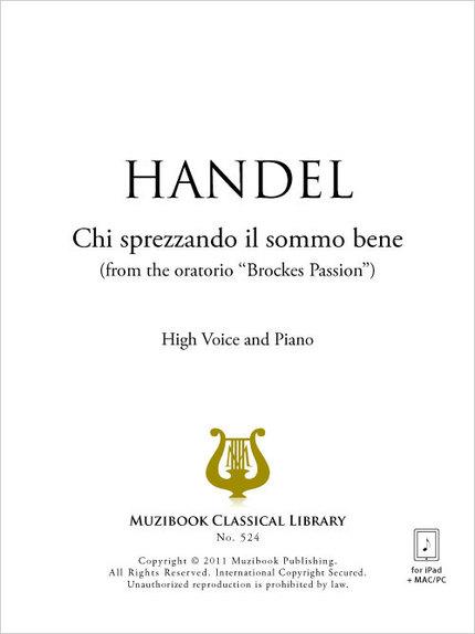 Chi sprezzando il sommo bene - Georg Friedrich Handel - Muzibook Publishing