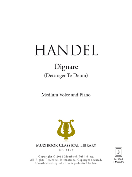 Dignare - Georg Friedrich Handel - Muzibook Publishing