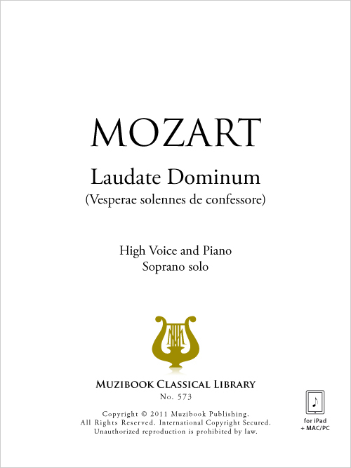 Laudate Dominum - Voice and Piano - Wolfgang Amadeus Mozart