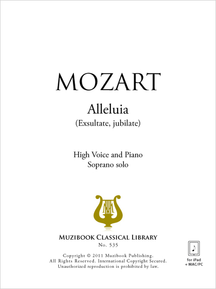 Alleluia - Wolfgang Amadeus Mozart - Muzibook Publishing
