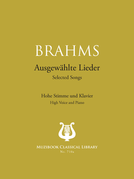 20 Selected Songs - Johannes Brahms - Muzibook Publishing