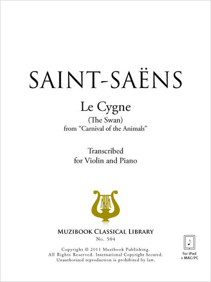 Le Cygne (The Swan) - Violin and Piano - Camille Saint-Saëns (EAN13
