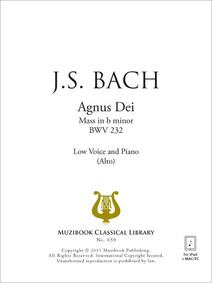Agnus Dei - Johann Sebastian Bach - Muzibook Publishing