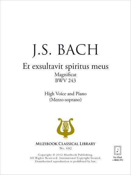 Et exsultavit spiritus meus - Johann Sebastian Bach - Muzibook Publishing