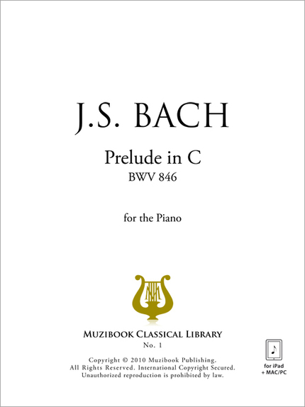 Prelude in C - Johann Sebastian Bach - Muzibook Publishing
