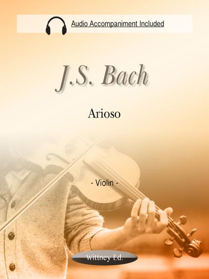 Arioso (MP3 Piano Accompaniment Included) - Johann Sebastian Bach - Wittney Ed.