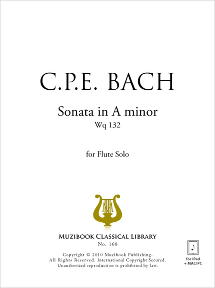 Sonata in A minor Wq 132 - Carl Philipp Emanuel Bach - Muzibook Publishing