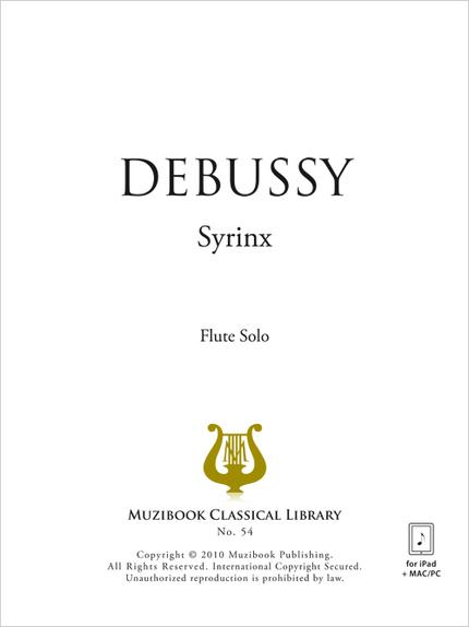 Syrinx - Claude Debussy - Muzibook Publishing