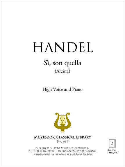 Sì, son quella - Georg Friedrich Handel - Muzibook Publishing