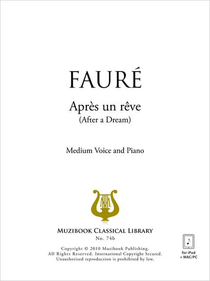 Après un rêve - Gabriel Fauré - Muzibook Publishing