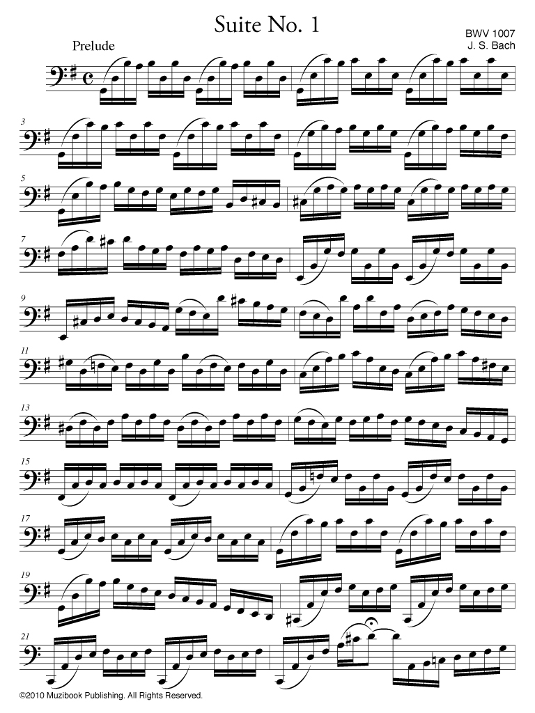 Suite No  1 BWV 1007 - Cello Solo - Johann Sebastian Bach (EAN13